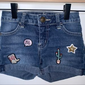 Justice girls Jean Shorts size 8 slim